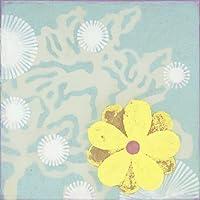 Oopsy Daisyイエローブルーの花からGulf Coastシャドウストレッチキャンバス壁アートby Sally Bennett 14 by 14-Inch PE0160