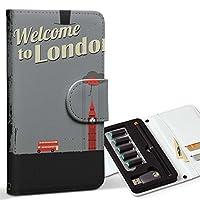スマコレ ploom TECH プルームテック 専用 レザーケース 手帳型 タバコ ケース カバー 合皮 ケース カバー 収納 プルームケース デザイン 革 ロンドン 英語 風景 010844