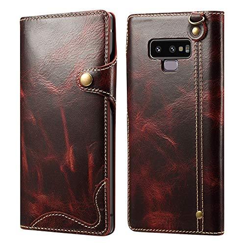 {RIFFUE}Galaxy Note9ケース 本革 手帳型...