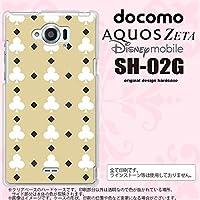 SH02G スマホケース AQUOS ZETA SH-02G カバー アクオスゼータ トランプ(クラブ) ベージュ×白 nk-sh02g-535