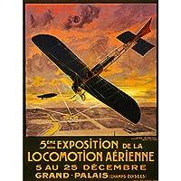 Advertising Exhibition Airshow Plane Zeppelin Airship Paris France Canvas Print