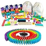 ドミノ 倒し セット 480個 ギミック 仕掛け 43種セット 日本語説明書 収納袋付き 木製おもちゃ カラフル Baj…