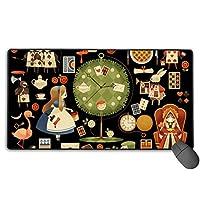 不思議の国のアリス マウスパッド 大型 ゲーミングマウスパッド キーボードパッド 防水マウスパッド 拡張マウスパッド 滑り止め ゲーム向け オフィス おしゃれ 750*400*3mm
