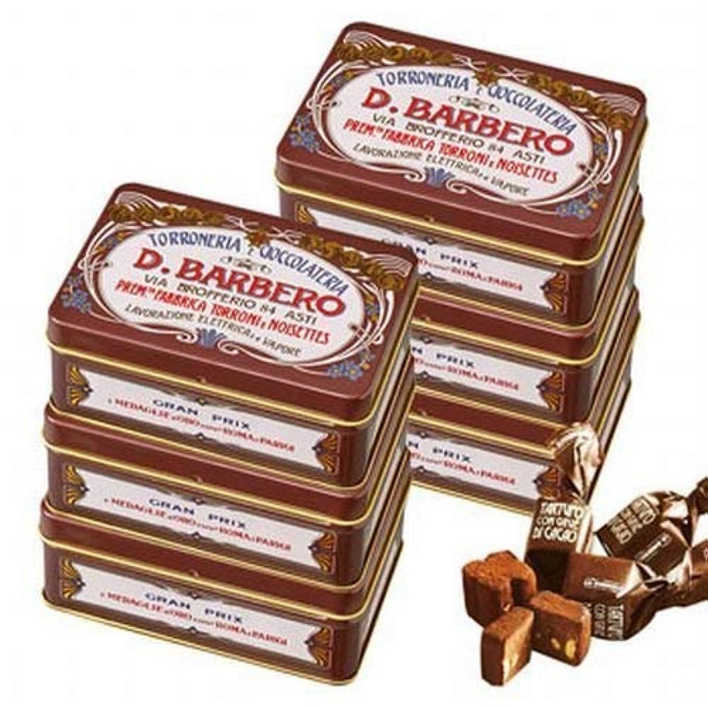 憎しみモルヒネページェントバルベロ (BARBERO) ミニ缶 トリュフ チョコレート 6缶セット 【賞味期限】9月20日【イタリア 海外土産 輸入食品 スイーツ】
