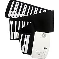 ニコマク NikoMaku 88鍵 ハンド ロール ピアノ 巻ける 電子ピアノ ワイヤレス 新型 音が進化 日本語説明書付き 巻いてコンパクトに収納