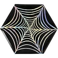 Meri Meri 45-2367 Cobweb Halloween Paper Plate, One Size, Black [並行輸入品]