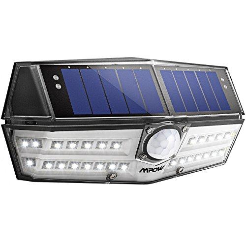 Mpow センサーライト ソーラーライト 30LED 防犯ライト 屋外ライト 玄関ライト 人感センサーライト ガーデンライト 2018年新作 IPX6防水 変換率最大23% 広角照明 検知距離8メートル センサー時間30s 太陽発電 省エネ 壁掛け式 屋外照明 防犯用