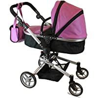 Mommy & me 2 in 1 Deluxe doll stroller EXTRA TALL 32'' HIGH 9695 (Purple Leather)