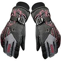 メンズ保護用スポーツウェア厚みスポーツグローブスキー/サイクリング手袋グレー