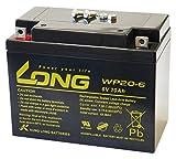 LONG 6V 20Ah 高性能 シールドバッテリー WP20-6 WP20-6