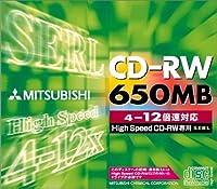 三菱化学 SW74EU1 CD-RW 650MB 1枚 ジュエルケース入り