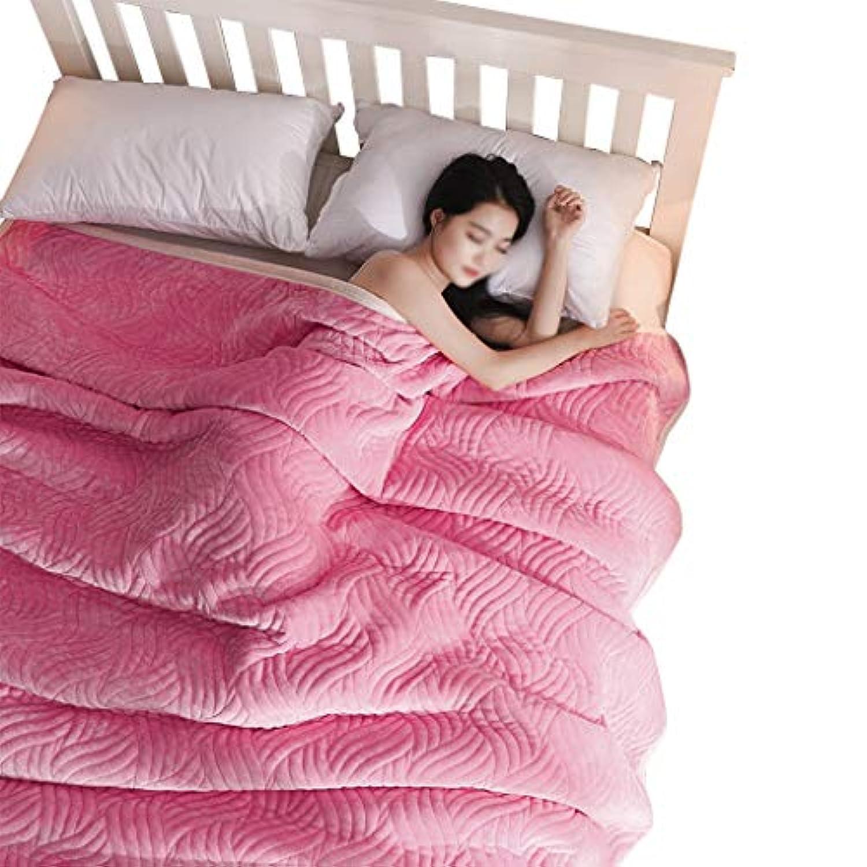 ベッド用品、ソファブランケット寝室多機能クリエイティブブランケットタオルは、空調ブランケットナップブランケット (色 : Deep pink, サイズ さいず : 200 * 230センチメートル)