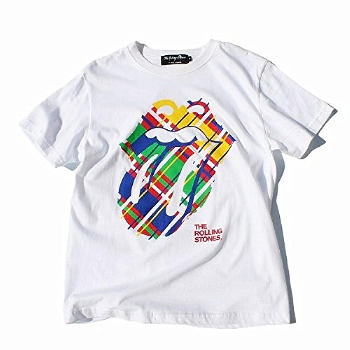 オーバーコート従事した傷跡ローリングストーンズ(The Rolling Stones) チェックロゴ Tシャツ