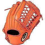 asics(アシックス) 軟式 野球用 グローブ オールポジション(左投げ用) ジュニア用 DIVE ダイブ サイズ大 2019年モデル 3124A050 Rオレンジ RH(左投げ用)