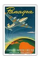 Panagra - 1928年以来アメリカに奉仕 - パンアメリカン - グレースエアウェイズ - ビンテージな航空会社のポスター によって作成された サッシャ・マウラー c.1949 - アートポスター - 31cm x 46cm