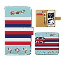 (ティアラ) Tiara DIGNO M KYL22 スマホケース 手帳型 ハワイ 手帳ケース カバー HAWAII 旅行 亀 ハワイ 州旗 F0223020051502