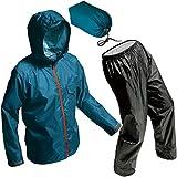 マック レインスーツ ブルー EL 裾上げ調整可能 防水透湿 アジャストマック ライト AS-7100