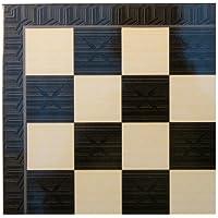 Yenigun Chess Board - Black Geometric Decoupage by YENIGUN [並行輸入品]