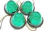 選べる5色 LED 16 発 サイド バス マーカー ライト ランプ 【ADVANTAGE】 トラック 24V 12V 車 に (a . グリーン4個)