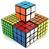 スピードキューブ セット 競技專用 マジックキューブセット 知育玩具 回転スムーズ 世界基準配色 子供 大人 脳トレ ストレス解消 2x2 3x3x3 4x4x4 5x5x5 4個