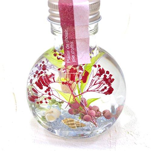 ハーバリウム MIX プリザーブドフラワー ハーバルデコラオイル 丸ガラスボトル 敬老の日 誕生日 贈り物 玄関