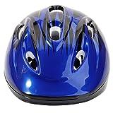 ヘルメット 子供用 軽量 3-7歳 helmet 8ホール シンプル スポーツ スケートボード キックボード ローラー スケート ウォーター スポーツ ブルー&ブラック