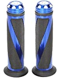 (nakira) 次世代スタイル カスタム グリップ バー エンド付属 アルミ オートバイ用 φ 22.2 mm (ブルー)