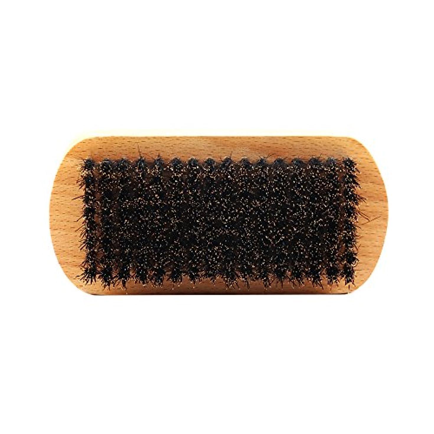 聖人ステップためらうビュアブラシ 男性 ひげ剃り ブリスル 天然木ハンドル ひげそり 2タイプ選べる - #1