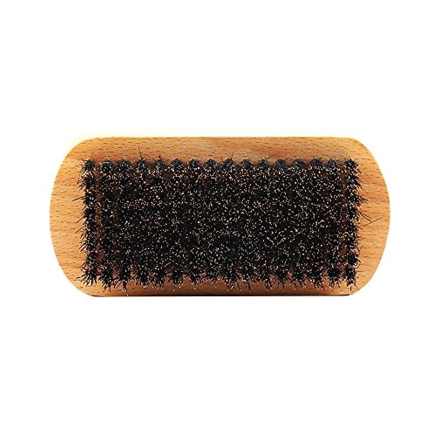 合体王子フレキシブル男性のひげ剃り猪ブリスル天然木ハンドルひげそりグルーミング - #1
