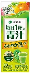 伊藤園 毎日1杯の青汁 さわやかフルーツミックス (紙パック) 200ml×24本