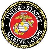 NI925 2個パック 海兵隊 デカール ステッカー | 4インチ プレミアム品質 デカール ステッカー | USMC デカール | アメリカ海兵隊 デカール