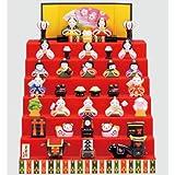 雛人形 コンパクト 陶器 小さい 可愛い ひな人形/錦彩花かざり雛(七段飾り) /ミニチュア 初節句 お雛様 おひな様 雛飾り