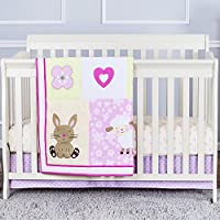 Dream On Me Naptime Friends 3 Piece Reversible Full Size Crib Bedding Set by Dream On Me