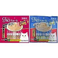 【セット買い】チャオ (CIAO) 猫用おやつ ちゅ~る 総合栄養食 まぐろ 海鮮ミックス味 14g×20本入 & (C…