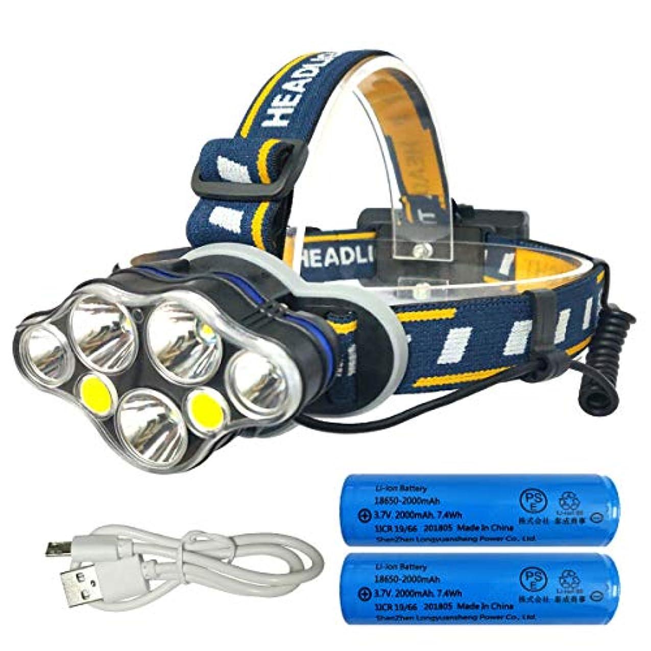 似ている拍手除外するLZW LEDヘッドライト 12500ルーメン USB充電式 防水 8点灯モード 作業灯 防災 登山 釣り ランニング 夜釣り PSE認証済み 18650型バッテリー 付属