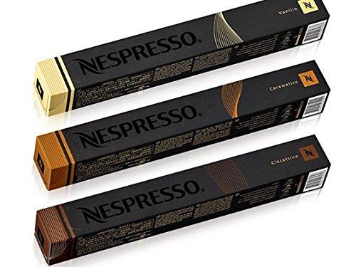 NESPRESSO ネスプレッソコーヒー フレーバータイプ3種類CIOCATTINO・CARAMELITO・VANILIO 3セット10個×3=...