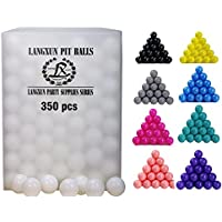 (White-350pcs) - Langxun Pack of 350pcs Ball Pit Balls - Soft Plastic Play Balls for Toddlers for Toddler Ball Pit, Kiddie Pool, Party Decoration, Photo Booth Props, Wedding Decoration