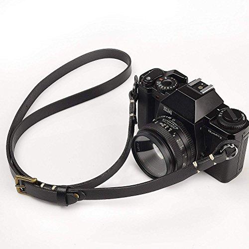 CANPIS 本物のハンドメイドレザーカメラショルダーネック調節可能なストラップニコンキヤノンソニーペンタックスライカオリンパス富士新
