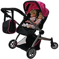 [マミーアンドミードールコレクション]Mommy & Me Doll Collection Babyboo Deluxe Twin Doll Pram/Stroller with Free Carriage 9651A [並行輸入品]