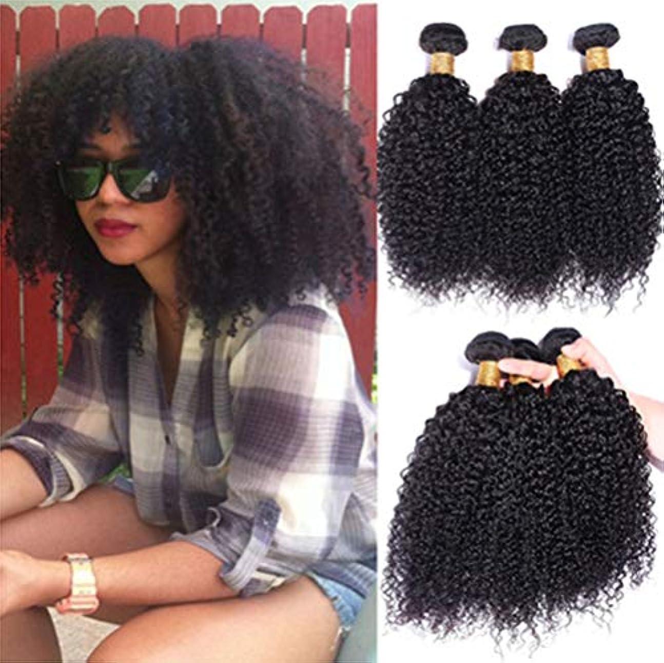 労苦彼女自身手のひら女性髪織り150%密度毛ブラジル巻き毛織り1バンドル8aグレードバージンレミー毛延長未処理