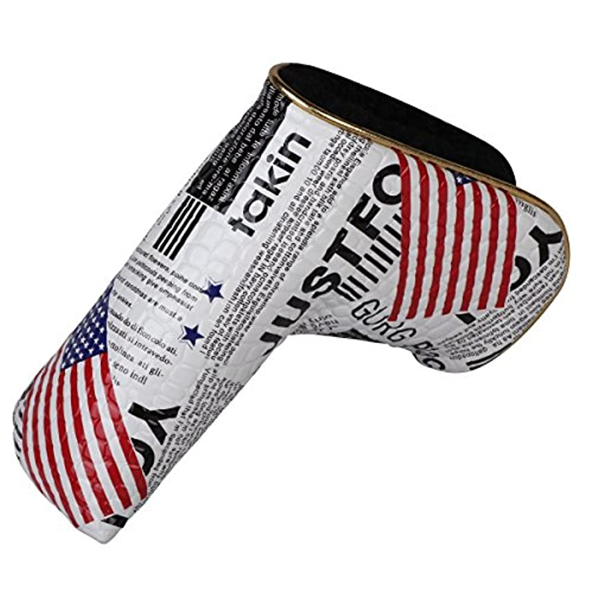 風味ライバル例外スコッティキャメロン適用 パターカバー マジックテープ開閉式 米国旗柄 セレクトプラザ
