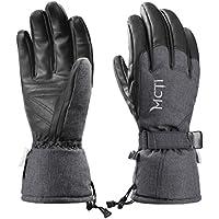 MCTi冬防水防風メンズレディーススキースノーボードPUレザー作業暖かい手袋の寒い天気150グラム3 Mシンサレート断熱
