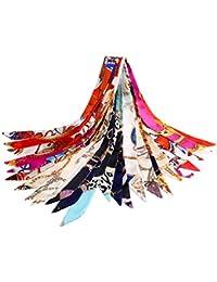 VBIGER スカーフ レディース シルク 髪飾り バッグ飾り 持ち手 小物 アクセサリー 通勤 パーティー用 12枚セット 服に組み合わせ易い お買い得