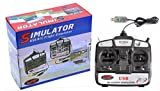 HTS 優れた プロポ型 コントローラー 属 6ch ラジコン フライト シミュレーター 自宅で USB接続 PC 飛行機 ヘリ 3Dフライト 操縦体験 !