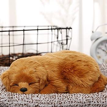 zhibao 本物そっくりに眠る犬のぬいぐるみ 活性炭 車 車内 空気 浄化 飾り 可愛い (わんこ5)