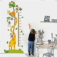 子供身長計 ウォールステッカー色の知覚漫画デザインPVC素材子供部屋、リビングルームを飾るために適した