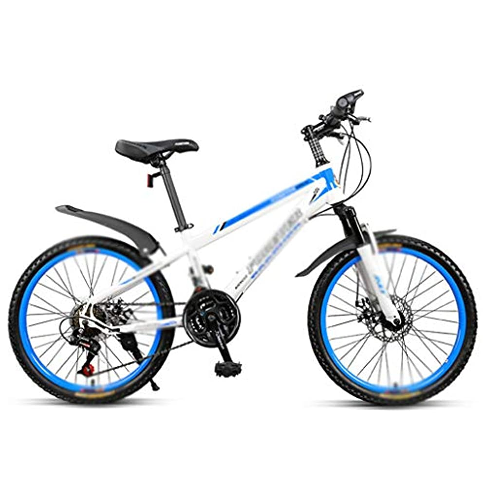 最初宿命ヘルメット自転車マウンテンバイクの学生自転車のスピードマウンテンバイクの少年の自転車女の子の自転車22インチ、21変速 (Color : WHITE, Size : 22INCHES)