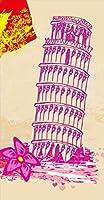 ポスター ウォールステッカー 長方形 シール式ステッカー 飾り 60×31cm Msize 壁 インテリア おしゃれ 剥がせる wall sticker poster ショッピング 女の子 ピンク 013604