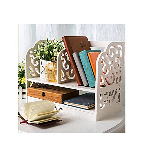 木製 2段ラック 本棚 木製 ブックエンド 本立て ブックスタンド ブックオーガナイザー  学校 オフィ...