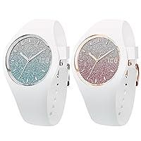 [アイスウォッチ]ICE WATCH ペアBOX付 ペアウォッチ ICE-WATCH shop 限定モデル ICE lo ブルー ピンク 防水 Medium 40mm 013429013431 腕時計 [並行輸入品]